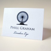 London Landmark Silhouette Escort Cards