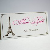 Paris Theme Escort Cards