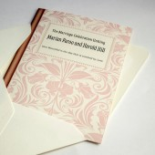 Library Book Theme Wedding Invitation