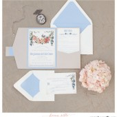 Secret Garden Theme Pocketfold Invitation