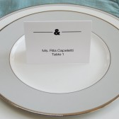 Ampersand Wedding Place Cards - Jessica and Michael