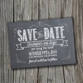 Save the Date Card - Printable - DIY Wedding, CHALK, Chalkboard, Custom, Vintage