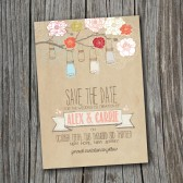 Save the Date Card - Printable - DIY Wedding, RUSTIC, Custom, Vintage