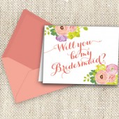 Will you be my Bridesmaid / Floral Blooms
