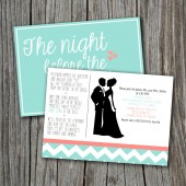 Rehearsal Dinner Invitation - Printable, Custom - DIY Wedding - CHEVRON, MODERN, Double Sided