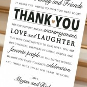 Wedding Reception Thank You Card