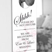 Classic Swirl Door Hanger for Wedding Hotel Welcome Bag - Do Not Disturb