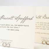 Romantic Quote Table Number Cards