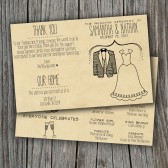 Wedding Program - Printable, Custom - DIY Wedding - RUSTIC, KRAFT Paper, Foldable, Double-Sided, Sweet and Simple