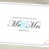 Personalized Wedding Thank You Cards - New Mr and Mrs