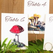 Woodsy Mushroom Table Number Cards