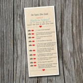 He Said She Said Trivia Game - Printable, Custom - DIY Wedding - Vintage, Mustache, Lips, Wedding, Bridal Shower