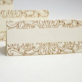 Blank Calligraphy Floral Border Escort Cards
