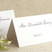 Vintage Calligraphy Style Table Number Cards