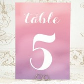 Purple Ombre Table Cards