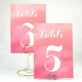 Pink Ombre Table Number Card