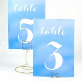 Blue Ombre Table Number Cards
