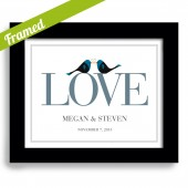 Lovebirds Personalized Art Print
