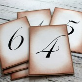 Vintage Inspired Table Numbers