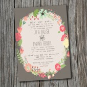 Wedding Invitation - Printable, Custom - DIY Wedding - Vintage, Retro