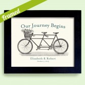 Bicycle for Two Art Print