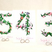 Flowers and Vines Table Cards