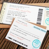 Passport Stamp Boarding Pass Invitation