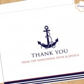 Nautical Wedding Thank You Card - Newlyweds