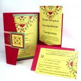 Indian Inspired Wedding Invitation