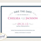 Simple, Elegant Save the Date Card - Vintage Scroll Wedding Invitation - Typography - Vintage Scroll Save the Date