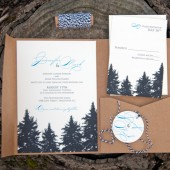 Pine Tree Silhouette Invitation