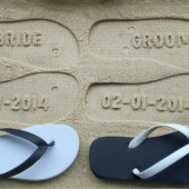Mr. and Mrs. Custom Honeymoon Flip Flops!