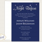 The Night Before Rehearsal Dinner Invitation - Wedding Rehearsal Dinner - Starry Night Sky