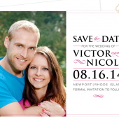Modern Photo Save the Date