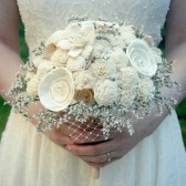Soft White Wildflower Handmade Bride's Alternative Wedding Bouquet