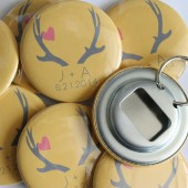 Antler Wedding Favor Bottle Openers