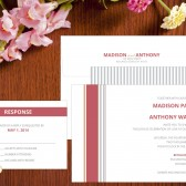 Bold Stripes Wedding Invitation