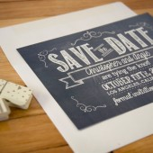 Chalk Save the Date Card