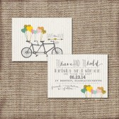 Wedding Save the Date DEPOSIT - Printable - DIY Wedding, RUSTIC, Modern, Bicycle, Sweet, Chic, Gold, Tandem Bike, Cute