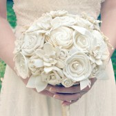 Classic Cream Collection - Handmade Cream Ivory Bride's Heirloom Wedding Bouquet