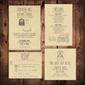 Wedding Invitation Suite - Personalized, Digital, Printable, Custom, DIY - Rustic, KRAFT Paper, Sketches, Cute