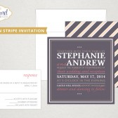Modern Stripe Wedding Invitation