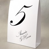 Calligraphy Style Table Number Cards