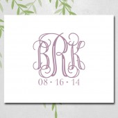 Unique Wedding Guest book Canvas, Wedding Monogram, Date, Guest Signing Keepsake