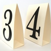 Vintage Number Tent Table Cards