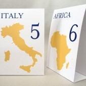 Geography Style Table Number Cards