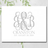 unique wedding guestbook alternative canvas sign, personalized monogram, custom colors