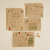 Wedding Invitation Suite - Rustic, Kraft Paper, Jars, Vintage, Shabby Chic, Printed, Printable, Barn