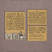 Wedding Invitation Suite DEPOSIT - DIY - Hipster, Kraft, Rocker, Modern, Shabby, Printed, Printable, 2014, Drawn