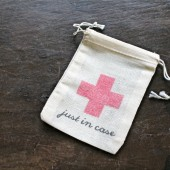 Just In Case wedding favor bag, DIY hangover recovery kit